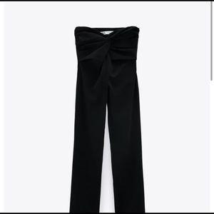 ZARA BLACK KNOTTED PANTS